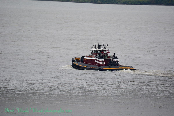 Again 9/21/18 at 15:15 hd hrs we have tug Captian Brian McAllister solo northbound on the Hudson River.New to my gallery. Good wheelhouse visability.The tug's capacities are 58,710 gallons of fuel, 545 gallons of lube oil, 2,500 gallons of urea, 1,444 gallons of of waste oil, 3,075 gallons of potable water, and 750 gallons of foam water.