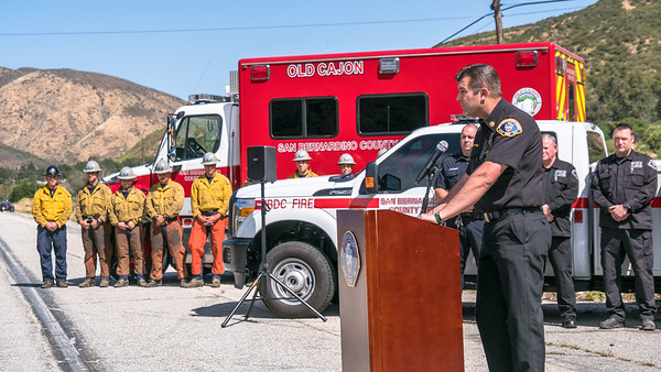 Wildfire & Arson Awareness Press Conference 05-08-17