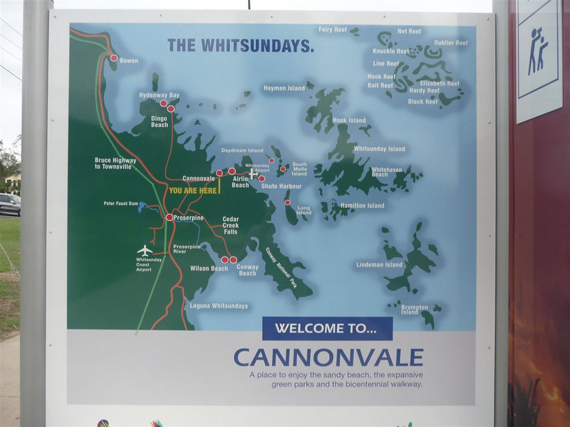 The Whitsundays locality map.