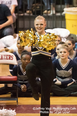 2/3/2018 Poolesville HS at MCPS County Poms Championship Blair HS Division 1, Photos by Jeffrey Vogt Photography with Kyle Hall