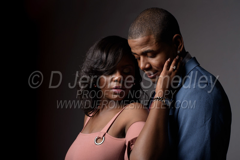 Diontae and Ebonee Engagement Session 03/18
