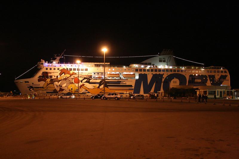 2008 - F/B MOBY FREEDOM : night in Olbia.