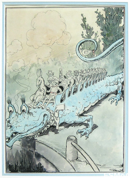 John R. Neill | Quox the Dragon - Plate facing p. 142 of Tik-Tok of Oz.jpg