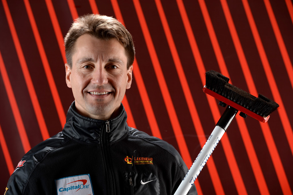 . Curler Pete Fenson poses for a portrait during the USOC Media Summit ahead of the Sochi 2014 Winter Olympics on October 2, 2013 in Park City, Utah.  (Photo by Harry How/Getty Images)