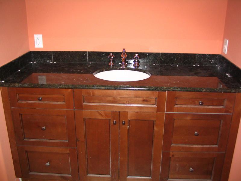 Master bath vanity - finished.