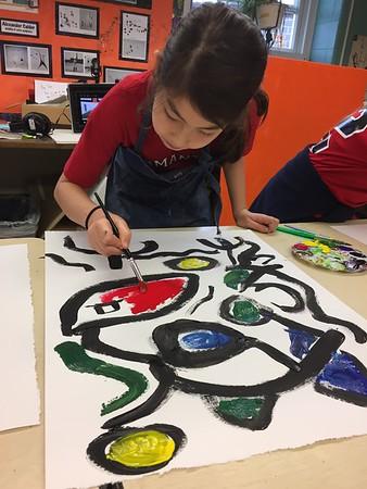 5th Grade - Miro Paintings