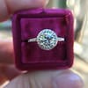 1.19ctw Old European Cut Diamond Halo Ring by A Jaffe 25