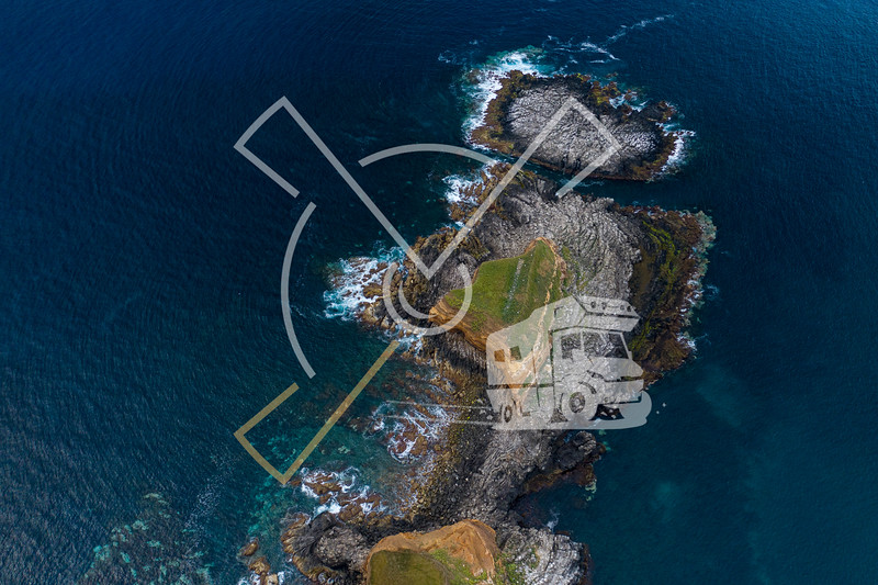 Aerial view on Ponta das Contendas on Terceira island in the Azores