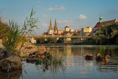 Regensburg around sunset