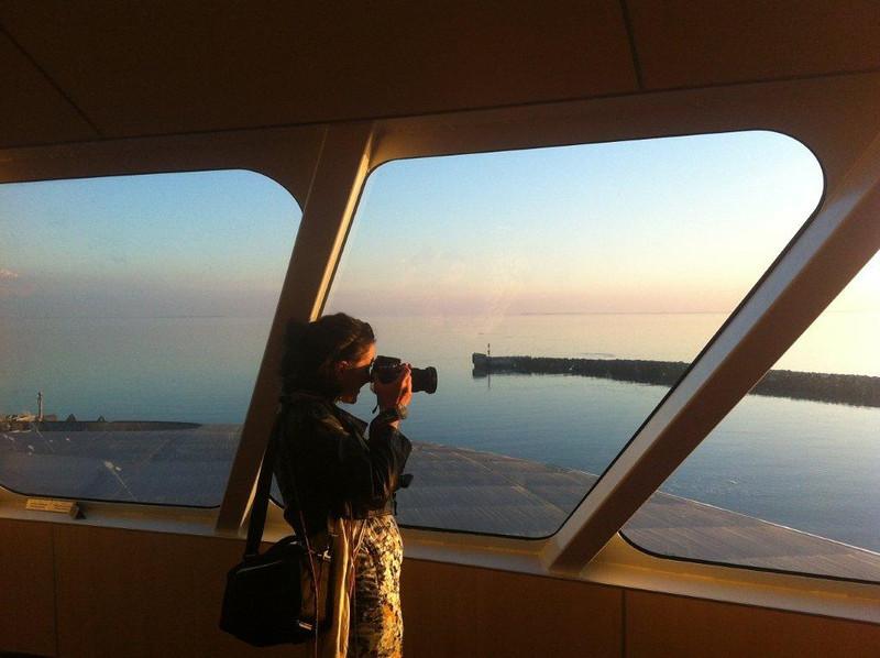 On a ferry to Århus, Denmark, 2013