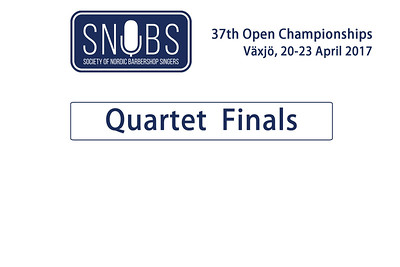 2017-0422 SNOBS - Male Quartet Finals