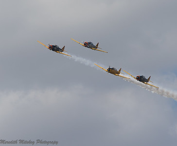 Tico Airshow  Don Stamp T6 formation