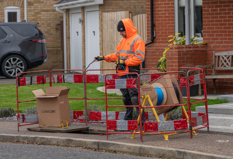 Fibre Cable Fed Through Duct - Ivy Way (2 Mar 2021)