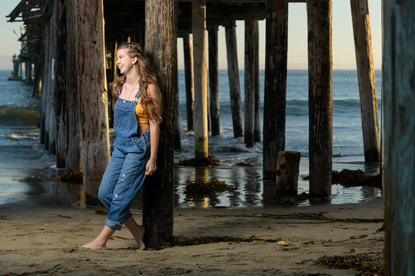 Ally Senior Portraits at Capitola Beach