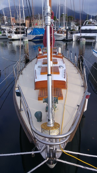 Deck painted - bow view