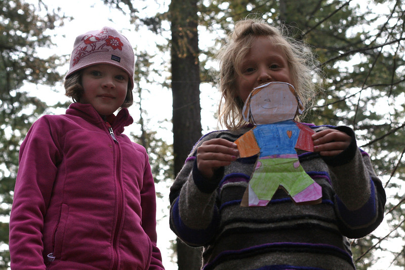 Flat Stanley meets some friends.