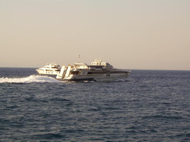 2007 - HSC VESUVIO JET sailing from Capri to Napoli.