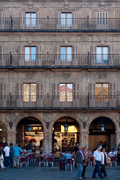Plaza Mayor or main square, town of Salamanca, autonomous community of Castilla and Leon, Spain