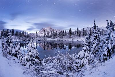Mount Shuksan and Picture Lake. WA.
