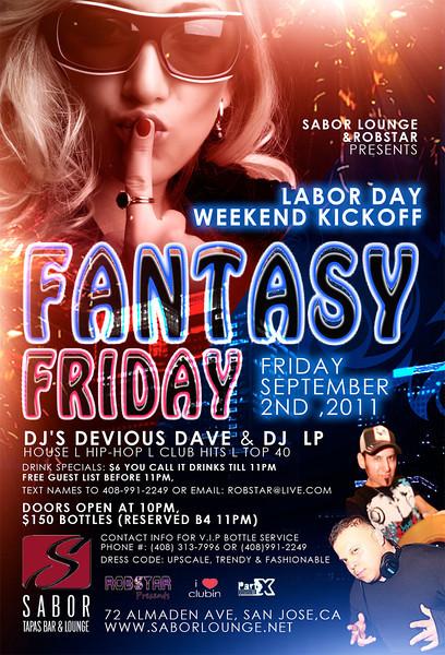 Fantasy Friday @ Sabor Tapas Bar & Lounge 9.2.11