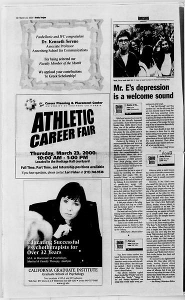 Daily Trojan, Vol. 139, No. 41, March 22, 2000