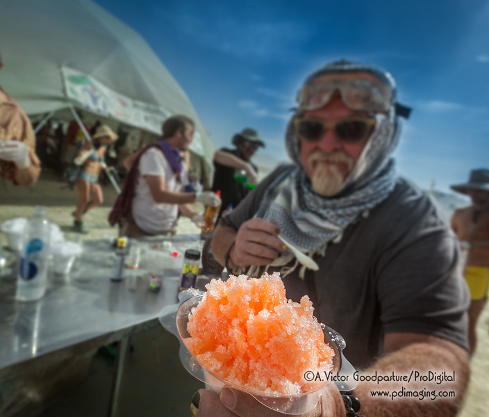 One camp offered alohol snow cones. It was a huge hit.