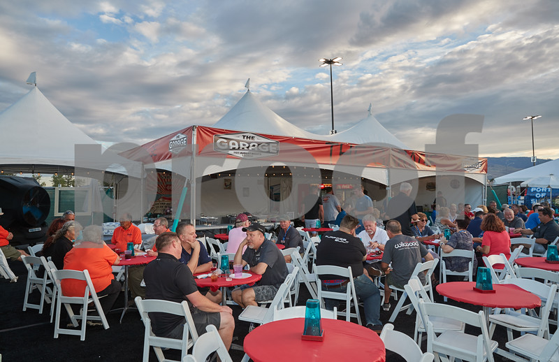 2019 8 5 HAN GSR Sponsor Tent and Rooftop Sunset Setup