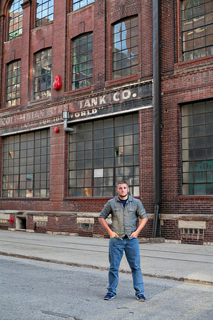 Jonah's Kansas City Senior Shoot in the West Bottoms