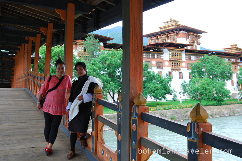 Juno and Tim at Punakha Dzong Fortress Bhutan.jpg
