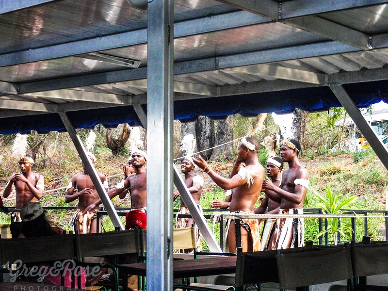 Local tribesmen put on a dance performance