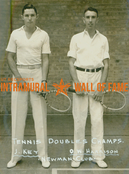 TENNIS Doubles Champions  Newman Club  J. Key & O. W. Harrison