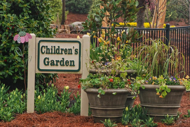 Children's Garden sign at Huntsville Botanical Gardens