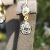 2.00-2.50ctw (est) Georgian Collet Double Drop Earrings 17