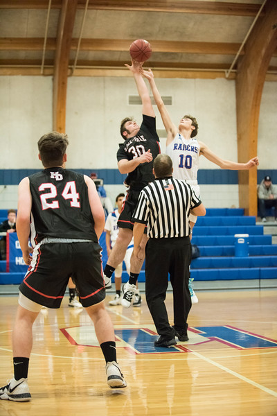 2019 Boys Varsity  Basketball:  Hall-Dale vs Oak Hill
