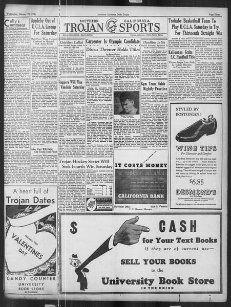 Daily Trojan, Vol. 27, No. 75, January 29, 1936