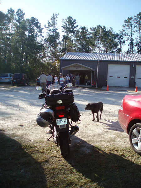 RIDE TO VOTE DAY, November 4th, 2008. Polling Place: Pinewood Volunteer Fire Department, Sour Lake, Texas