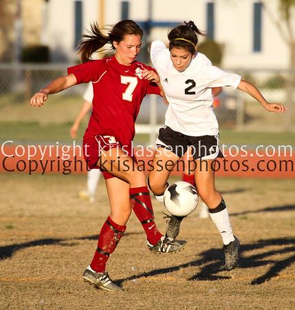 2012 La Serna Girls Soccer vs Santa Fe 1/26
