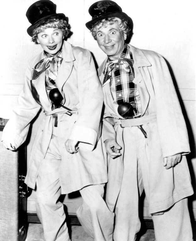 ". ""I Love Lucy\""  Lucille Ball and Harpo Marx.   Los Angeles Daily News file photo"