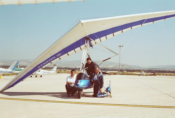 Dave Armstrong and members of the Cyprus Microlight Club