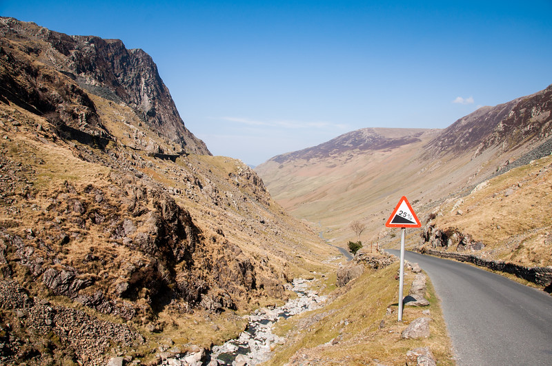 25% gradient on Honister Pass