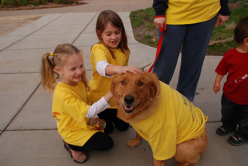 All sorts of two-legged and four-legged critters participated in the 2010 BackPack Extra Mile Walk