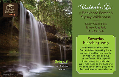 Waterfalls Of Bankhead Forest & Sipsey Wilderness; March 23, 2019
