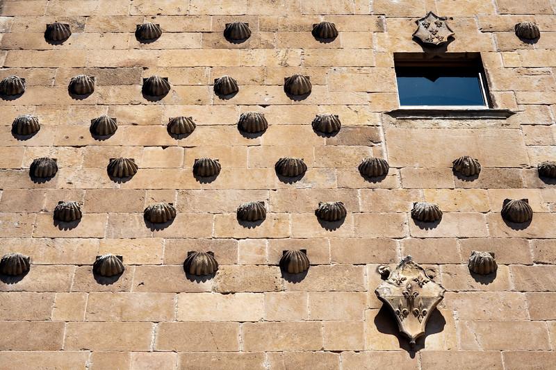 House of the Shells facade, town of Salamanca, autonomous community of Castilla and Leon, Spain