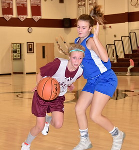 AMHS M.S. Girls Basketball vs MAU photos by Gary Baker