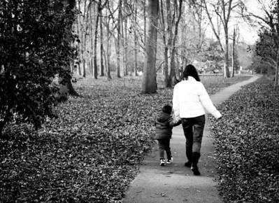 Alan and Megan - Park Path - 2012