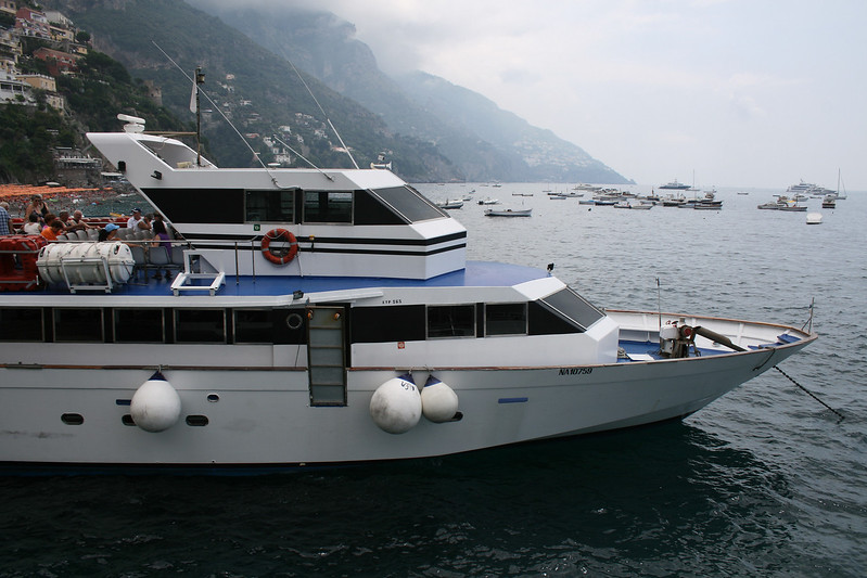 UFO moored in Positano.