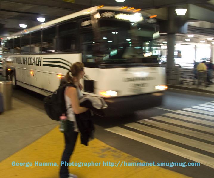 Leaving Boston's Logan Airport for Dartmouth College
