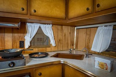 1964 Coachman Cadet 15' Trailer Interior Kitchen