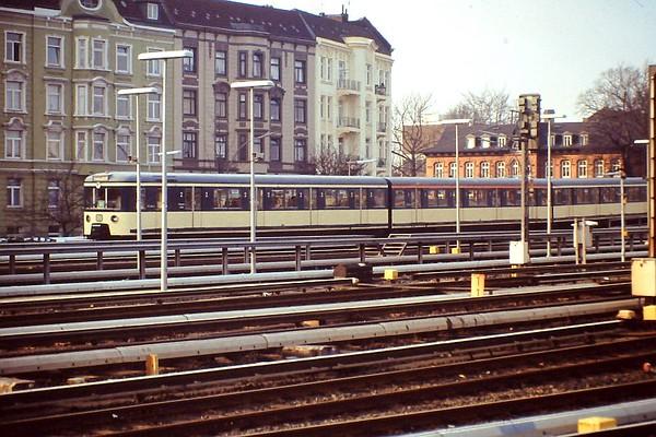 Hamburg S-bahn EMU, Hamburg Altona, 24th February 1990.