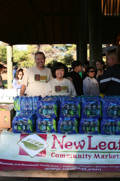 Sponsor New Leaf Community Market provided bottled water for the runners and walk teams.